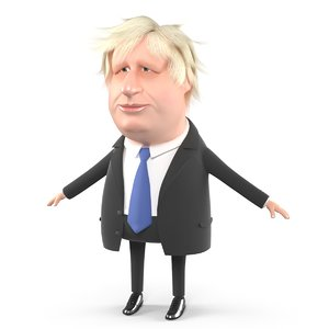 rigged boris johnson 3D model