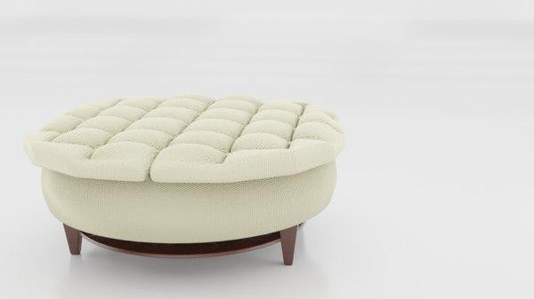 3D model ottoman sofa seat furniture