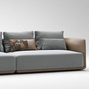 3D camerich elan sofa model