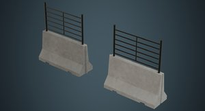 concrete barrier 2a 3D model