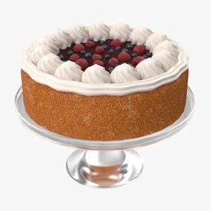 cake berry 3D
