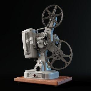 keystone 109d 8mm projector 3D model