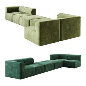 eave modular sofa 3D