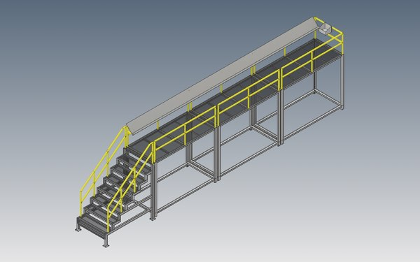 3D machine stair model