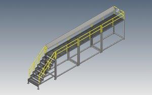 3D machine stair model