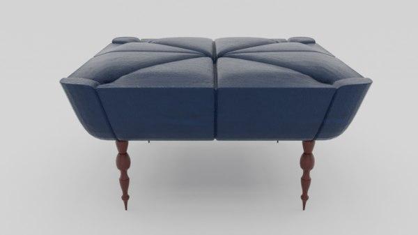 ottoman sofa chair couch 3D