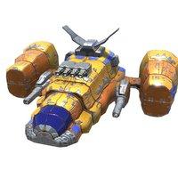 heavy fighter 3D model
