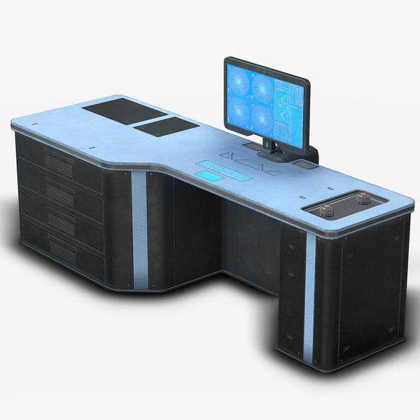 sci fi lab table model