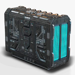 3D model sci fi generator