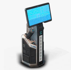 sci fi terminal 02 model