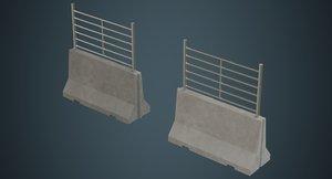 concrete barrier 2b model