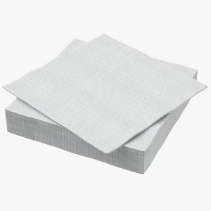 white napkin 3D model