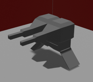 3D double turret