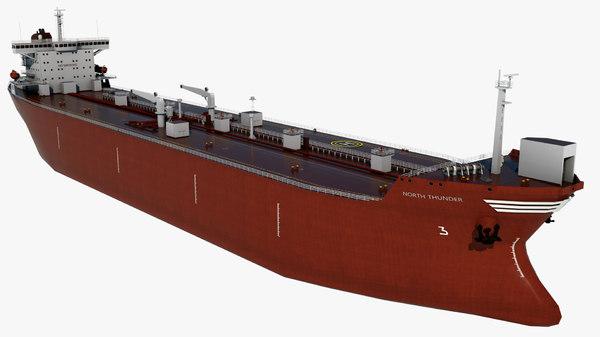 3D oil tanker north thunder model
