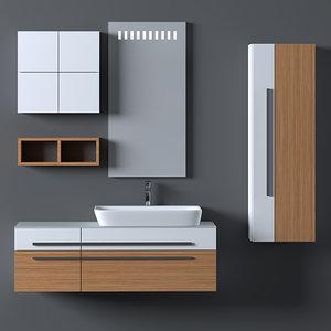 3D bathroom furniture set model
