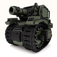 tank metal slug 3D model