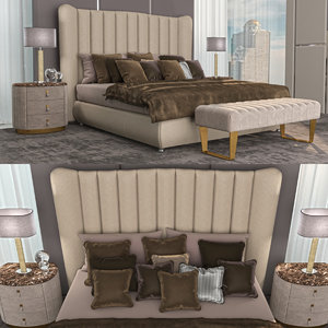 settings bed dv home 3D