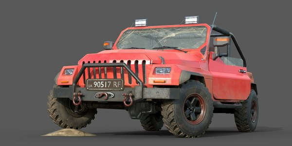 brandless offroading vehicle 3D