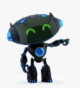 3D cute black cat model