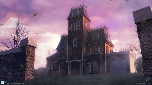 3D spooky mansion