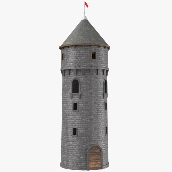 real castle tower 3D model