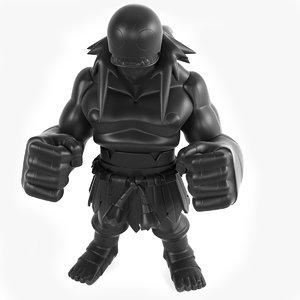 3D toy king katch model