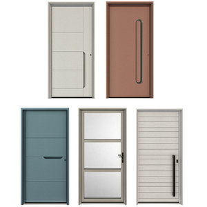 3D entrance metal doors model