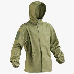 realistic military green jacket 3D model