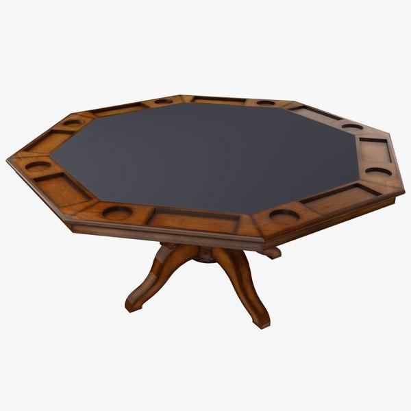 3D poker table