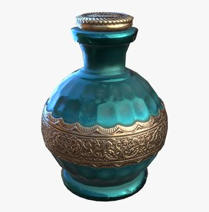 3D potion bottle - ready model