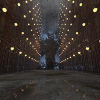 3D nightmare environment model