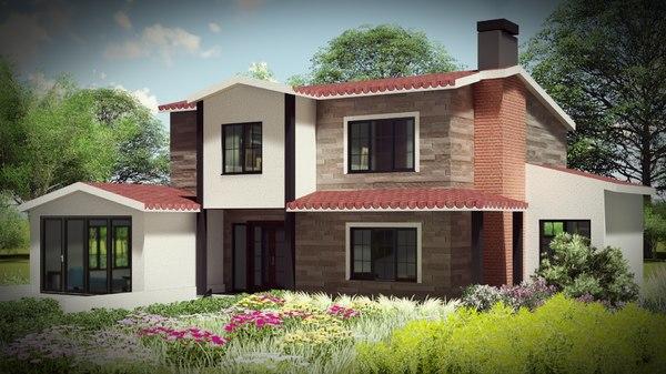 3D architecture villa bim 4