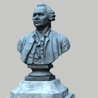 3D lomonosov monument model