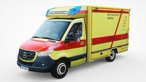 mercedes-benz sprinter paramedics 3D