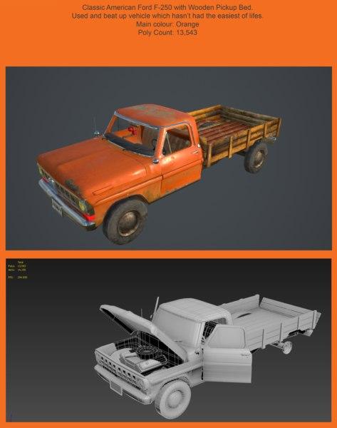 f250 pickup truck 3D model