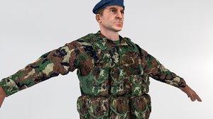 3D turkish soldier