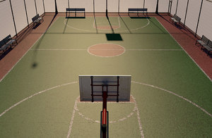 3D street basketball court cancha