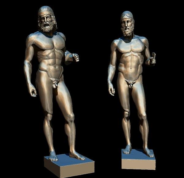 3D model bronze riace di bronzi