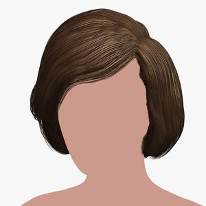 hairstyle 38 hair 3D model