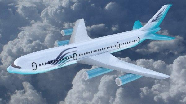 passenger airbus 3D model