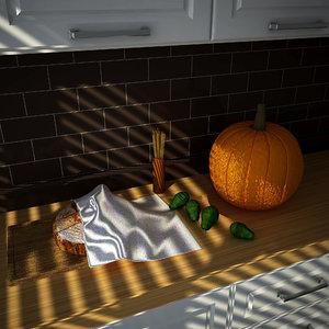 food kitchen 3D model