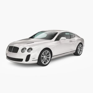 3D bentley continental supersports 2010