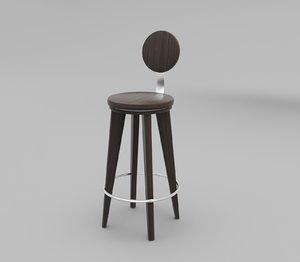3D model modern barchair