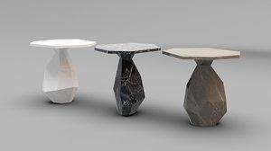 3D ginger jagger rock table model