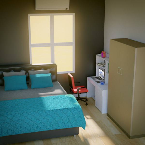 bedroom pack 3D model