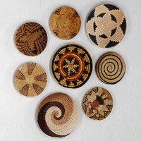 set african baskets wall 3D model