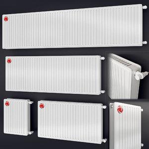 3D steel heating radiator vogel model