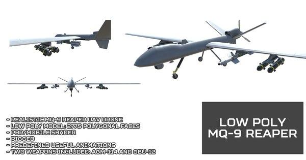 mq-9 reaper uav drone model