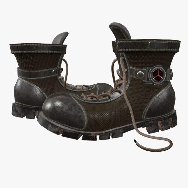 boots blender model