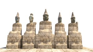 statues nemrut 3D model